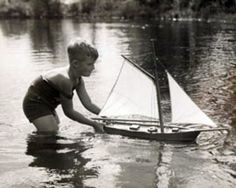 boy with his boat