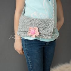 Adorable, Easy, and Free Girl's Cross Body Crochet Purse Pattern.