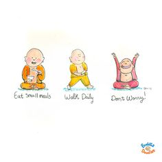 Buddha Doodles by Molly Hahn Baby Buddha, Little Buddha, Buddha Zen, Buddha Thoughts, Happy Thoughts, Buddah Doodles, Yoga For Kids, Note To Self, Cool Words