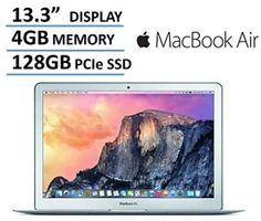 Newest Apple MacBook Air 13-inch Laptop Computer, Intel Core i5 Processor, 4GB RAM, 128GB SSD, 13.3″ 1440 x 900 Display, 802.11ac WiFi, Bluetooth, Backlit Keyboard