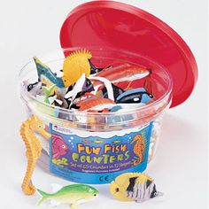 Beautifully+detailed+fish+counters+in+12+realistic+shapes+are+great+for+party+favors,+storytelling+or+even+rewards!+Set+includes+60+counters+packaged+in+a+reusable+storage+container.