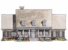 Adam - Federal House Plan with 3066 Square Feet and 4 Bedrooms(s) from Dream Home Source | House Plan Code DHSW42576