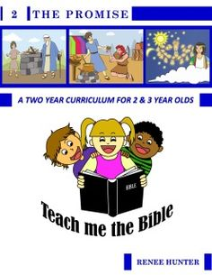 A wonderful curriculum for 2 and 3 year old's.  This is quarter 2 of 8.  All 8 quarters will take them through the Bible in two years.  It is reusable too!!