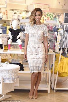 25cbe4fece Myleene Klass looks white hot as she opens up a new Mothercare store
