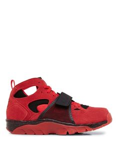 Nike Air Trainer Huarache QS PRM Challenger Red and Black Mid Top Sneaker - Sneakerboy