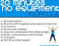 20 minute workout without equipment...