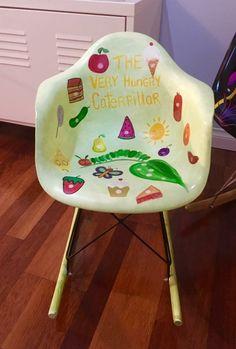 Hand painted Caterpillar chair