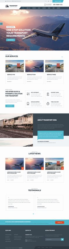 Transport/Logistic & Warehouse WP Theme - Transport is a W3C validated responsive logistic & warehouse wp theme.