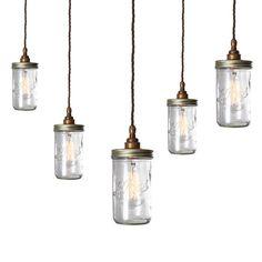 Jam Jar Cluster Pendant #archiproducts #lighting #design