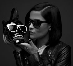 and her former friend. Skull, Sunglasses, Halloween, Womens Fashion, Women's Fashion, Sunnies, Shades, Woman Fashion, Skulls