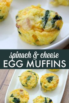 Spinach & Cheese Egg Muffins – a mini frittata made with bacon, onions, cheese and spinach. Always a breakfast fave! Spinach & Cheese Egg Muffins – a mini frittata made with bacon, onions, cheese and spinach. Always a breakfast fave! Spinach Egg Muffins, Frittata Muffins, Sausage Muffins, Cheese Muffins, Mini Egg Muffins, Egg Muffin Cups, Spinach And Eggs Breakfast, Mini Frittata, Cooking Tips