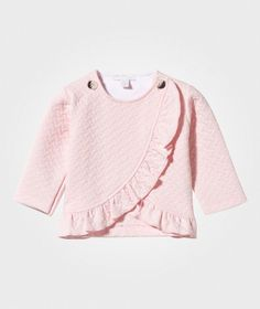 Livly Ruffle Cardigan Baby Pink Jacquard baby pink jacquard - 1