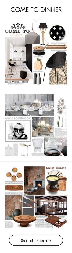 """""""COME TO DINNER"""" by tiziana-melera ❤ liked on Polyvore featuring interior, interiors, interior design, home, home decor, interior decorating, Serena & Lily, Ligne Roset, Valsecchi 1918 and Menu"""