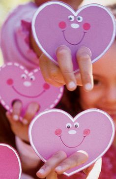 Heart Hand Puppets Idea Valentine Craft For Kids