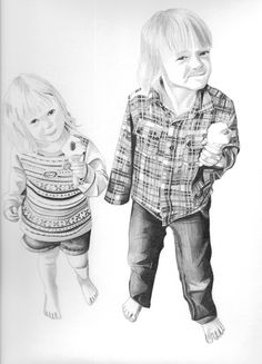 "Pencil drawing - ""Evie & Elliott"""