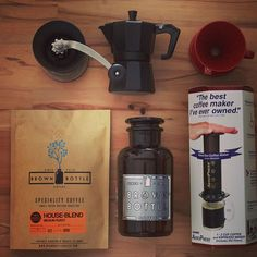 The #coffee kit!! This might just make someone's Christmas !! Everything a coffee enthusiast might need to get them through the day. What would you want for Christmas? Www.BrownBottleCoffee.com
