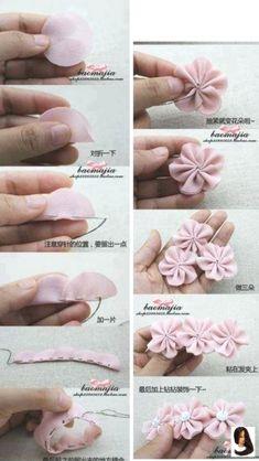 #de #feitas #feltro #flores #Hair Accessories bandana Blumen aus Filz        Flores feitas de feltro  #blumen.