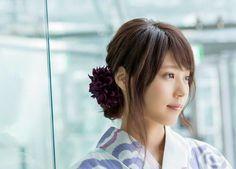 Japanese actress Kasumi Arimura in Yukata