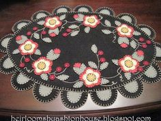Penny rug with flowers...cute design.