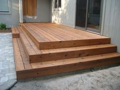 You can see how the stairs wrap around the deck better in this picture.