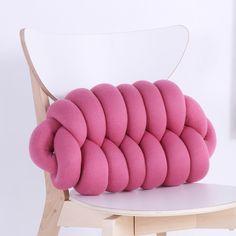 Sofa Cushion Handmade Knot Cushion Brief Nordic Style 50cm Cute Cushion Decorative Pillows Cushion Child Seat Grey Bed Pillow