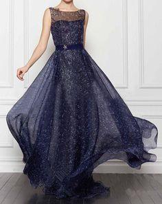 Stars Chiffon Dress