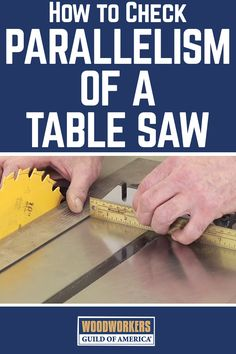 Learn how to check parallelism of a table saw. If you don't check to see that the blade and fence on your table saw are parallel, you could end up with binding issues that cause kickback and a whole bunch of other problems on your woodworking projects down the road, so make sure you check for parallelism! George Vondriska teaches you a quick and low-tech method for doing so using a framing square and a standard metal ruler.