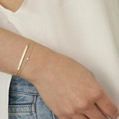 Paired up—our two favorite diamond bracelets, worn together. Paired up—our two favorite diamond bracelets, worn together. Bracelets Fins, Dainty Bracelets, Dainty Jewelry, Diamond Bracelets, Ankle Bracelets, Cute Jewelry, Modern Jewelry, Luxury Jewelry, Sterling Silver Bracelets
