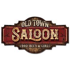 Bar Saloon, Saloon Western, Old West Saloon, Western Theme, Wine Signs, Pub Signs, Vasos Vintage, Old Western Towns, American Logo