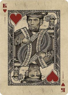 Gold Certificate Playing Cards by Jackson Robinson Jack Of Hearts, King Of Hearts, Aces And Eights, Unique Playing Cards, Card Tricks, Letters And Numbers, Game Design, Unique Art, Card Games
