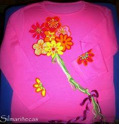 Diy: Cómo poner un aplique de flores, crochet y lazo