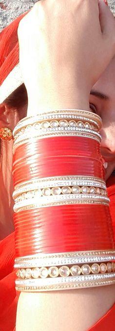 Engagement & Wedding Enthusiastic New Dulhan Wedding Indian Designer Red Cz Chura Bangle Set Bridal Jewelry Bridal & Wedding Party Jewelry