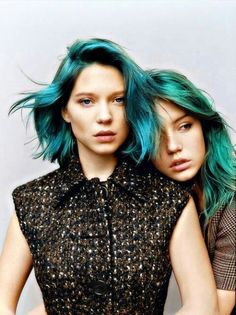 ℒᎧᏤᏋ Léa Seydoux & Adele Exarchopoulos turquoise & green hair!!!! ღღ
