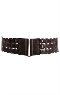Plus Size Stretch Belt with Three Row Chain Design. This belt could go with all kinds of outfits.