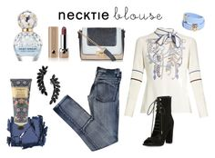 """""""Necktie"""" by maria-tamarindo ❤ liked on Polyvore featuring Peter Pilotto, Surratt, Cheap Monday, Kendall + Kylie, New Look, William Morris, Marc Jacobs, Cristabelle and Versace"""