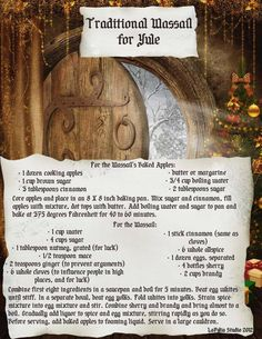 Winter Solstice - Yule - Pagan - Traditional Wassail - Pinned by The Mystic's Emporium on Etsy Yule Celebration, Pagan Yule, Norse Pagan, Samhain, Magick Spells, Thing 1, Book Of Shadows, Winter Holidays, Wicca Holidays