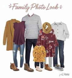 Ideas for What to Wear for Family PicturesYou can find Family photo outfits and more on our website.Ideas for What to Wear for Family Pictures Fall Family Picture Outfits, Family Portrait Outfits, Family Pictures What To Wear, Family Picture Colors, Winter Family Photos, Fall Family Portraits, Outfits For Family Pictures, Casual Family Photos, Family Picture Clothes