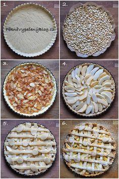 Křehký koláč s jablky – PĚKNĚ VYPEČENÝ BLOG Christmas Treats, Pie, Bread, Cooking, Recipes, Food, Healthy Recipes, Torte, Kitchen