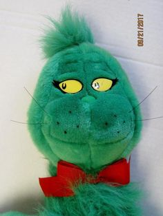 """Large 28"""" Stuffed Grinch with Small Book How The Grinch Stole Christmas 1997 #MacysDrSeuss"""