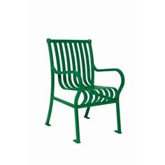 Ultra Play 2 ft. Green Commercial Park Hamilton Chair with Arms Surface Mount-PG91-S2 at The Home Depot
