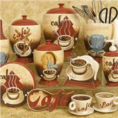 Coffee House Themed Kitchen Decor