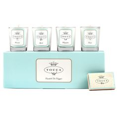 The Tocca Candle Gift Set I have (I especially love the Havanna scented candle)