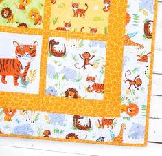 Robert Kaufman Wild Adventure Fabric & Wild Safari Pattern Quilt Kit - None