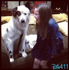 """Ella Anderson Working On """"Dog With A Blog"""" May 20, 2013"""