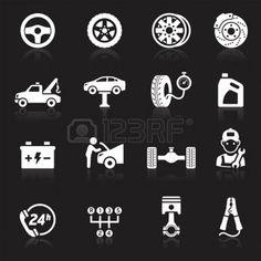 Car service maintenance icon set1.  photo