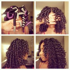 How to Roll Flexi Rods on Natural Hair rodded natural hair styles - Natural Hair Styles Pelo Natural, Natural Hair Tips, Natural Hair Journey, Natural Curls, Natural Hair Styles, Rod Set Natural Hair, Natural Quick Hairstyles, Styling Natural Hair, Natural Hair Blowout