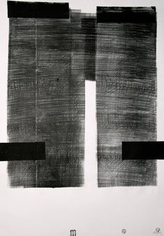"""Buy SGRAFFITO No. 422, 100x70 cm,  """"ARC DE TRIOMPHE"""", a Ink on Paper by Michael Lentz from . It portrays: Abstract, relevant to: Richard Serra, drawing, abstract, chillada, ink black ink monotype and ink drawing on 100g white alfa paper FEB 2016. Monotype drawing used as a drawing technique creates the effect of a lithography.     But contrary to lithography, my drawings are strictly one of a kind,  100% original and unique copies: they are drawn without any optical devices (e.g. th..."""