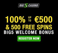 Big5 Casino is more than just a casino site, it's a place of fun and entertainment where the wild roam free and the winning opportunities are plenty. New players are welcomed onboard the wild safari experience with a fantastic Welcome Bonus of 100% bonus match up to a massive €/$ 500 and 500 free spins!  The casino is owned by Condor Gaming SRL, which  holds licenses by the Malta Gaming Authority and Curacao eGaming.  #Big5Casino #FreeSpinsBonus #NoDepositBonus #FreeBets Online Casino Slots, Casino Sites, Malta, Spinning, Safari, Gaming, Entertainment, Fun, Malt Beer