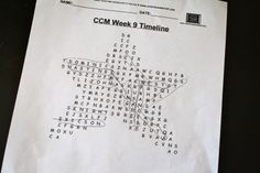 CCM Timeline Activity: Build a word search with key words from the cards. Catholic Missionary Family