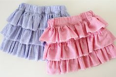 FREE - SEWING - Layered Skirt – MADE EVERYDAY ~ tutorial for girls (and moms) of all ages.